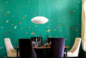 Como base de un mural de mariposas en decoupage...Foto: Home and decor